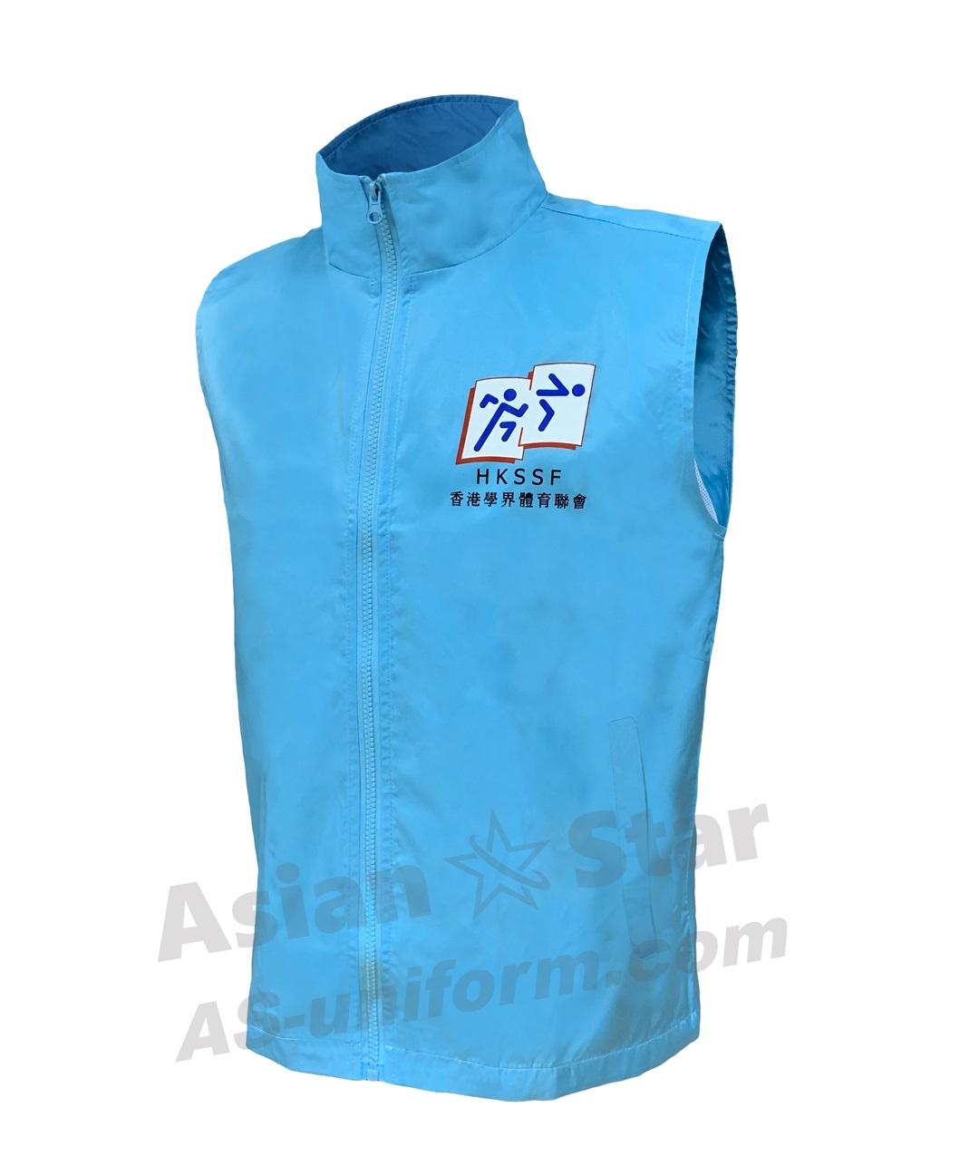 訂造拉鍊背心外套AS401-香港學界體育聯會