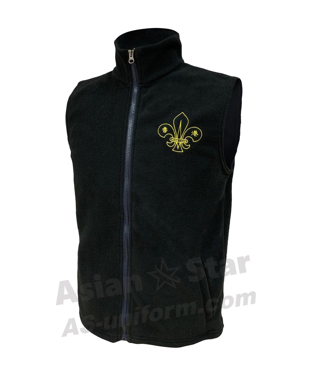 抓絨背心外套訂造AS401B-香港童軍總會